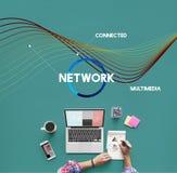 Sieci sieci Komunikacyjny Podłączeniowy pojęcie Obrazy Royalty Free