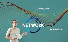 Sieci sieci Komunikacyjny Podłączeniowy pojęcie Zdjęcie Stock