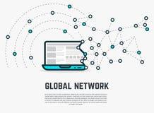 Sieci sieci laptop Obraz Stock
