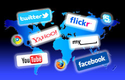 sieci socjalny świat Obraz Royalty Free