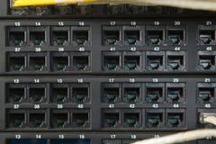 Sieci zmiana i ethernetów kable Zdjęcie Stock