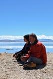 Sieda per la meditazione Fotografie Stock Libere da Diritti