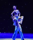 Sieda sulla danza popolare di spalla-Swallowling-cinese Fotografia Stock Libera da Diritti