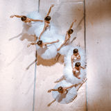 Siedem balerin na podłoga Zdjęcie Stock