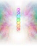Siedem Chakras w subtelnym energii pola tle Zdjęcia Royalty Free