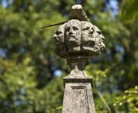 Siedem głów szczegół Dobrze, Invergarry, Loch Oich, Wielka roztoka, Szkocja, Zjednoczone Królestwo Obrazy Royalty Free