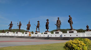 Siedem królewiątko statui Rajabhakti park Hua Hin Zdjęcia Royalty Free
