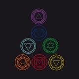Siedem ludzkich chakras, ilustracja Fotografia Royalty Free