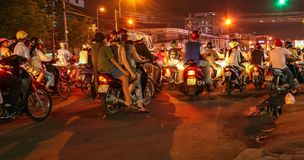 Siedem millions ludzi, trzy millions motocyklu! zdjęcie royalty free