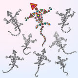 Siedem smoków wektoru ilustracja Fotografia Stock