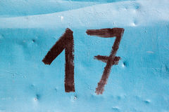 Siedemnaście liczb Zdjęcie Royalty Free
