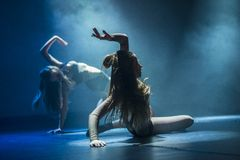 Dancers of Luz Dance Theatre perform on stage Royalty Free Stock Photo