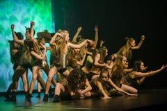 De dansers van het Theater van de Dans Luz presteren op stadium Royalty-vrije Stock Foto's