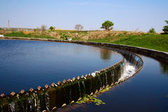 Siedler an der Abwasserbehandlung-Anlage Lizenzfreies Stockbild