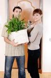 Siedler eines reizend junge Paares Lizenzfreie Stockbilder