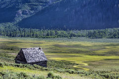 Siedler-Kabine in Joes-Tal Utah Lizenzfreie Stockfotos