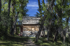 Siedler-Kabine in Joes-Tal Utah Stockbild
