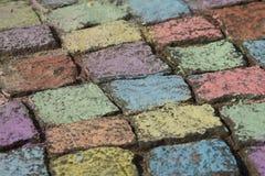 Siedwalk chalk Stock Photos