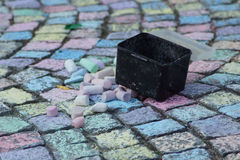 Siedwalk chalk Royalty Free Stock Photography