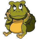 Siedząca żaba Obrazy Royalty Free