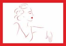 siedząca kobieta royalty ilustracja