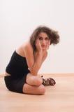 siedząca kobieta zdjęcie royalty free