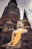 siedząca posąg buddy Zdjęcie Royalty Free