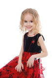 Siedząca uśmiechnięta mała dziewczynka Zdjęcie Royalty Free