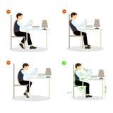 Siedzącej postury set royalty ilustracja