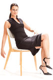 Siedzący żeński uczeń Obraz Royalty Free