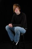 siedząc nastolatka Obrazy Royalty Free