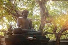 siedz?ca Buddha statua zdjęcie royalty free
