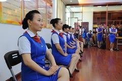 Siedzącej postury etykiety szkolenie Zdjęcie Stock