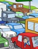 siedzący ruch drogowy ilustracji