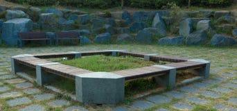 Siedzący teren w kraju parku Zdjęcia Stock