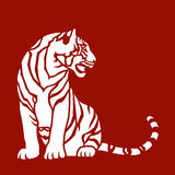Siedzący tygrys Zdjęcie Stock