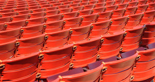 Siedzenia Przy milenium parkiem Bandshell Zdjęcie Stock