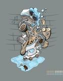 siedzenie muzykalna toaleta Zdjęcia Stock