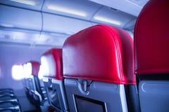 Siedzenie na samolocie zdjęcia royalty free