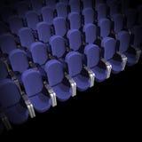 siedzenie w kinie Zdjęcia Stock
