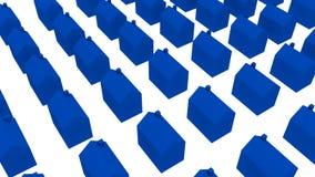 Siedziba błękitów domy - 3D ilustracja Zdjęcie Stock