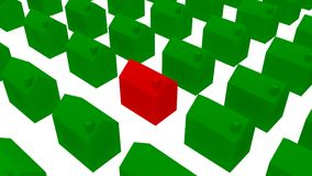 Siedziba ekologiczni domy - 3D ilustracja Obrazy Royalty Free