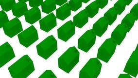 Siedziba ekologiczni domy - 3D ilustracja Zdjęcia Royalty Free