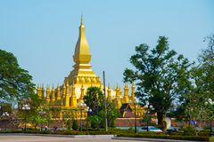 Siedziba PHA Który Luang Luang Prabang, Wielka stupa, Buddyjska stupa laos Vientiane Obrazy Stock