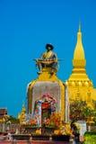 Siedziba PHA Który Luang Luang Prabang, Wielka stupa, Buddyjska stupa laos Vientiane Zdjęcie Royalty Free