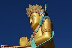 Siedzieć Buddha statuę przy Diskit monasterem Ladakh indu obrazy stock
