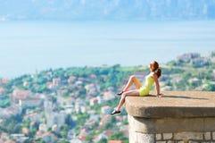 Siedzieć nad miastem Zdjęcia Stock