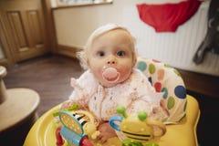 Siedzieć w dziecko piechurze fotografia royalty free