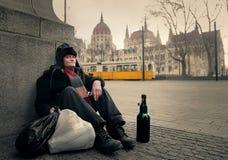 Siedzieć w ulicie zdjęcie royalty free