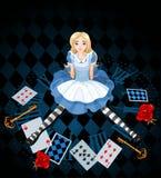 Siedzieć Alice Zdjęcia Royalty Free